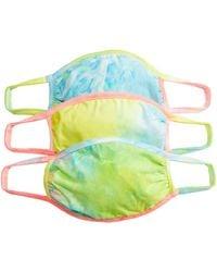 Shashi Tie-dye Face Mask Set - Multicolor