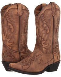 Laredo - Garrett (sanded Black) Cowboy Boots - Lyst