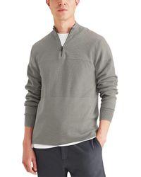 Dockers Regular Fit 1/4 Zip Sweater - Gray
