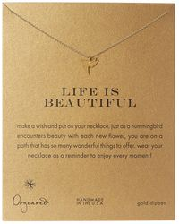Dogeared | Life Is Beautiful Hummingbird Reminder | Lyst