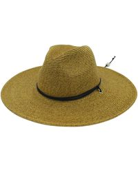 San Diego Hat Company Pinched Crown W/ Chin Cord - Brown