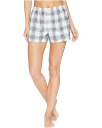 afc9d46b6ff Pj Salvage - Plaid Please Shorts (grey) Women s Pajama - Lyst