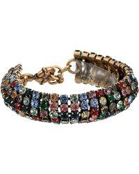 J.Crew Tria Crystal Chain Bracelet - Multicolor