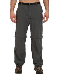 Columbia Big Tall Silver Ridgetm Convertible Pant - Gray