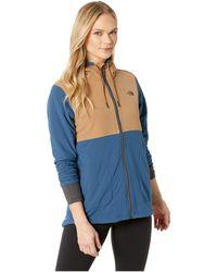 The North Face - Mountain Full Zip Sweatshirt (fig/galaxy Purple) Women's Sweatshirt - Lyst