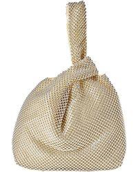 Jessica Mcclintock Logan Ball Mesh Pouch Handbags - Metallic