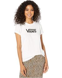 ee9aa6cd Vans Flying Checkered Long Sleeve Cropped T-shirt in Black - Lyst