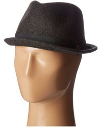 0fac7183dc9 San Diego Hat Company - Sdh9442 Wool Porkpie Hat (charcoal) Caps - Lyst