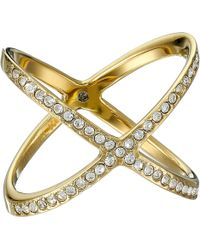 Michael Kors - Brilliance Pave X Ring (silver) Ring - Lyst