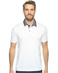 4ff7ff887 Perry Ellis - Pima Chambray Polo Shirt (black) Men's Clothing - Lyst