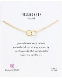 Dogeared Friendship Double Linked Rings Chain Bracelet - Metallic