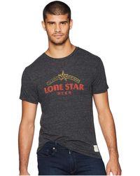 The Original Retro Brand - Vintage Tri-blend Lone Star Beer Tee (streaky Black) Men's T Shirt - Lyst
