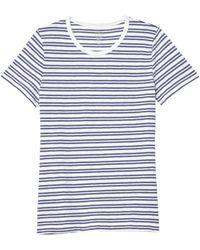 J.Crew Painter Shrunken Crew T-shirt In Stripe - Blue