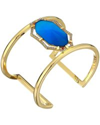 Vince Camuto - Large Cuff (gold/crystal/blue Catseye) Bracelet - Lyst