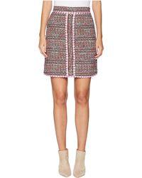 Boutique Moschino - Tweed Mini Skirt (fantasy Print Pink) Women's Skirt - Lyst