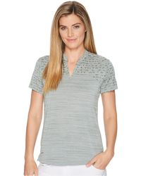 Nike - Zonal Cooling Polo Sphere Jacquard (black/flat Silver) Women's Clothing - Lyst