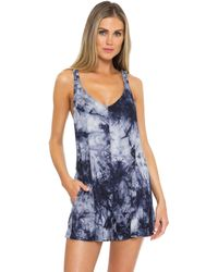 Becca Sea Ray Tie-dye Romper Cover-up - Blue