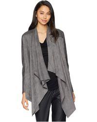 Blank NYC - Drape Front Jacket In Stone Age (stone Age) Women's Coat - Lyst