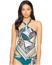 Becca - Handkerchief Reverse Tankini (fern/black) Women's Swimwear - Lyst