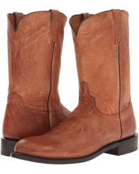Lucchese - M1017.c2 (tan Mad Dog Goat Roper) Cowboy Boots - Lyst
