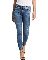 Silver Jeans Co. - Avery High-rise Curvy Fit Skinny Jeans L94116ssx366 - Lyst