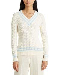 Lauren by Ralph Lauren Cotton Cricket Sweater - White