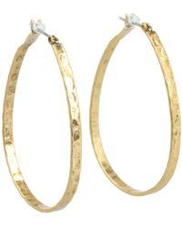 Lucky Brand - Textured Medium Oblong Hoops (silver) Earring - Lyst