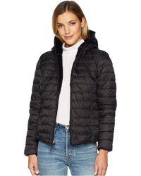Marc New York - Melrose Reversible To Fur Short Packable Puffer (black/black) Women's Coat - Lyst