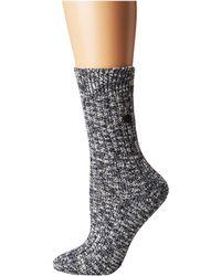 Birkenstock - Cotton Slub Socks (gray/white) Women's Crew Cut Socks Shoes - Lyst
