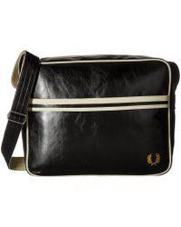 Fred Perry - Classic Shoulder Bag (black/ecru) Shoulder Handbags - Lyst