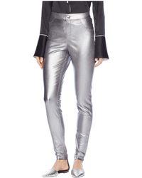 Hue - Iridescent Metallic Denim Leggings (gunmetal) Women's Jeans - Lyst