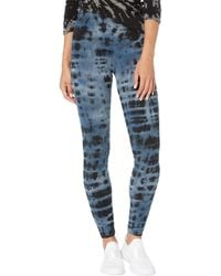 Hard Tail High Rise Ankle Leggings In Cotton Spandex - Blue