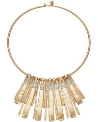 Robert Lee Morris - Two-tone Statement Round Wire Necklace - Lyst