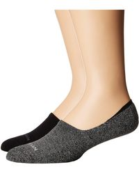 Cole Haan - 2-pack Casual Cushion Liner (black) Men's Crew Cut Socks Shoes - Lyst