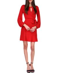 MICHAEL Michael Kors Solid Mini Wrap Dress Dress - Red