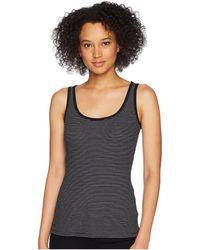 Lauren by Ralph Lauren - Ribbed Stretch Cotton Tank Top (polo Black/white) Women's Sleeveless - Lyst