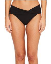 Robin Piccone Ava Twist Bikini Bottom - Black