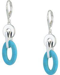 Lauren by Ralph Lauren - Turquoise Link Drop Earrings - Lyst