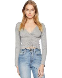 Lucy Love - Emerson Top (heather) Women's Clothing - Lyst