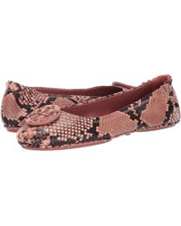 Tory Burch Minnie Travel Ballet Flats, Embossed Leather - Multicolor