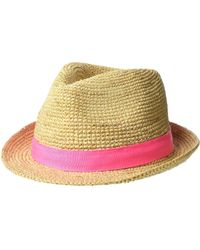Lyst - Lilly Pulitzer Poolside Fedora Hat in Natural 9a7e06a370a6