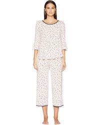 Kate Spade Short Sleeve Gathered Pajama Set - Pink