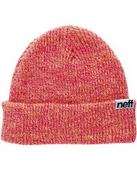 Neff Fold Heather Beanie - Red
