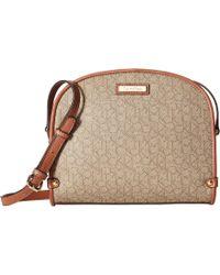 Calvin Klein - Monogram Crossbody (mini Textured Khaki/brown Luggage) Cross Body Handbags - Lyst