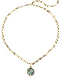 ALEX AND ANI - Color Infusion Ankh 18 Adjustable Necklace (14kt Gold Plated) Necklace - Lyst
