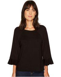 B Collection By Bobeau - Peggy Ruffle Sleeve Sweatshirt - Lyst