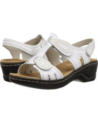 4f8188cba51272 Lyst - Clarks Lexi Empress Q Women Open Toe Leather Nude Slides Sandal