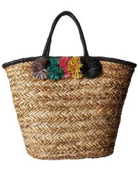 San Diego Hat Company - Bsb1714 Pom Seagrass Tote (natural) Tote Handbags - Lyst
