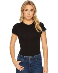 Yummie By Heather Thomson - Seamless Short Sleeve Crew Neck Shaping Bodysuit - Lyst