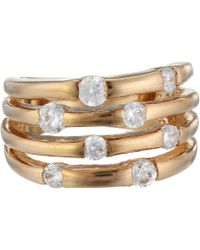 Guess - 4 Band Stone Ring - Lyst